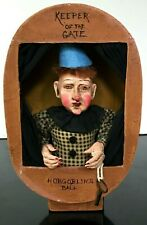"""Vintage KEEPER OF THE GATE DOLL HOBGOBLINS CARNIVAL DOLL IN BOOTH 3 X 9 X 5"""""""