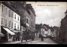 BELLEY (01) SALON de COIFFURE & COMMERCES , Boulevard de VERDUN animé vers 1930