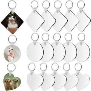 30 Pcs Sublimation Keychain Blanks Heat Transfer Double-Side Keyrings Ornaments