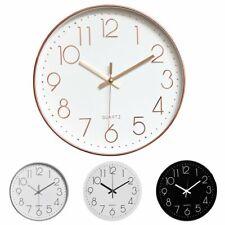 12 Inch Round Non Ticking Modern Wall Clock Quartz Battery Silent Home Art Decor