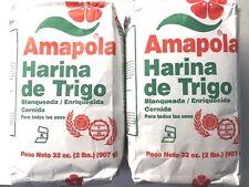HARINA DE TRIGO AMAPOLA(ENRICHED FLOUR ) 2 PACK 32 OZ EACH FROM PUERTO RICO