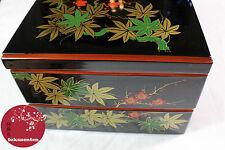 BOITE JAPONAIS URUSHI KYOTO LACQUERWARE TRADITIONAL BENTO BOX MADE IN JAPAN
