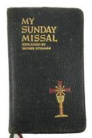 My Sunday Missal By Father Joseph Stedman 1944 Vintage Leather Christian Text