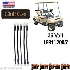 Club Car DS 36 volt Golf Cart # 2 Gauge Battery Cable Kit (5)