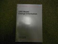 1992 VW Model Change Information Service Training Repair Shop Manual OEM BOOK 92