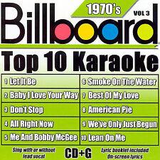 Billboard Top 10 Karaoke: 1970's, Vol. 3 by Sybersound (CD, Jun-2007,...