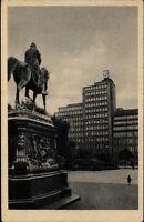 Hamburg Postkarte 1952 gelaufen Verwaltungsgebäude des Deutschen Ring Denkmal