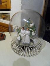 Vintage Globe boule verre mariage mariés 70's deco wedding centre table center