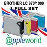 1 Set of Cartuchos de tinta compatible con LC970 / LC1000 [not Brother original]