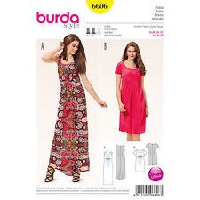 Burda Sewing Pattern 6606 SZ6-18 Misses Petite Dress Empire waist Round neckline