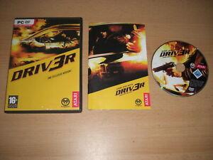 DRIV3R DRIVER 3 Pc DVD Rom Original with Manual FAST POST