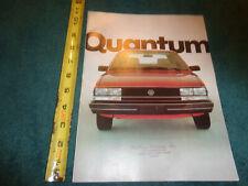 1982 Volkswagen Quantum Sales Brochure Original Vw Dealership Catalog