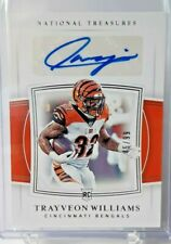 2019 Panini National Treasures Cincinnati Bengals Rookie Trayveon Williams 45/99
