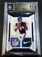 DESHAUN WATSON 2017 NATIONAL TREASURES NFL LOGO NIKE PATCH 1/1 ROOKIE RC BGS 9.5