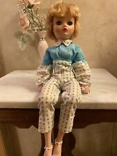 """Vintage Dollikin Uneeda 2S Doll 19"""" Jointed And Outfit"""