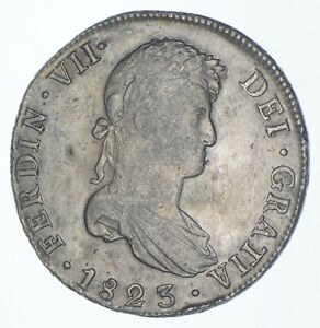 1823 Colonial Bolivia 8 Reales Silver - Walker Coin Collection *410