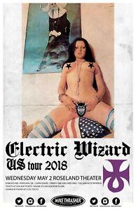 ELECTRIC WIZARD 2018 Gig POSTER Portland Oregon Concert