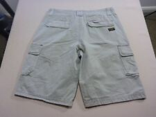 038 MENS EX-COND INDUSTRIE SIDE POCKETS LT OLIVE CARGO SHORTS SZE 32 $100 RRP.