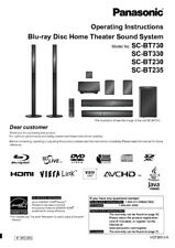 Panasonic SC-BT230 SC-BT235 SC-BT330 SC-BT730 Home Theater System Manual