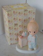 Precious Moments Porcelain Figure 1984 Love Never Fails With Box