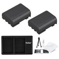 2X NB-2LH Replacement Battery & USB Dual Charger for Canon ZR800 850 930 950 960
