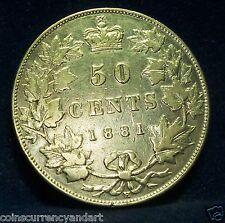 CANADA - 50 Cents - 1881H  - Queen Victoria