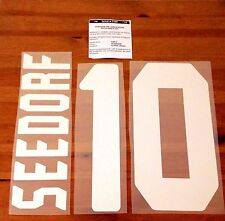 2006-07 AC Milan UCL Home Shirt SEEDORF #10 Official Stilscreen Name Number Set