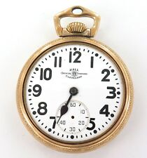 .1949 BALL 999B 16S 21J 6 ADJUSTS RAILROAD GRADE POCKET WATCH.