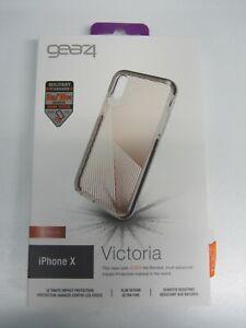 """GEAR4 Victoria Streak iPhone X Case 14.7 cm (5.8"""") Cover Gold, Transparent"""