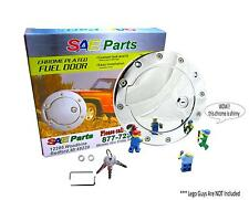 *NEW* Chrome Locking Fuel Door - Keyed Gas Cap Kit - Custom Escalade Sierra Part