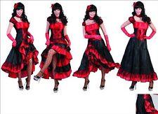 Costume Donna del Saloon Travestimento Ballerina del Can Can Taglia S Carnevale