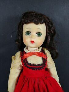 "VINTAGE 11"" MADAME ALEXANDER LITTLE WOMEN JO DOLL Lissy ? Green Eyes Repair"
