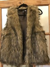 H&M Faux Fur Gillet UK Small