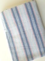 RALPH LAUREN SUMMER STRIPE Blue Red White Twin Size Flat Sheet