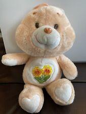 "Vintage 1983 Kenner Care Bear Friend Bear 13"" Plush Flower"