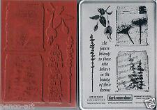 Darkroom Door rubber stamp ART DE FLEUR VOL. 1 MUSIC & FLOWERS 18x13cm in tin