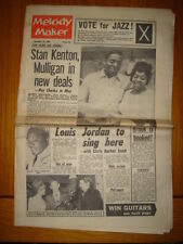 MELODY MAKER 1962 NOV 10 JAZZ LOUIS JORDAN STAN KENTON