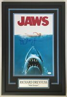 Richard Dreyfuss Autograph Signed JAWS 11x17 Movie Framed Display  - JSA COA