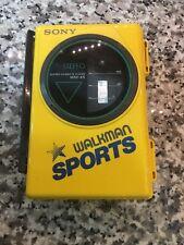 Vintage Sony Walkman Sports WM-45 Yellow Portable Stereo Cassette