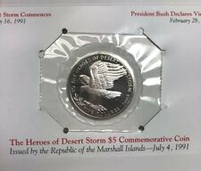 Heroes Of Desert Storm Commemorative Coin Republic Marshall Island Issued