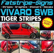 VAUXHALL VIVARO SWB TIGER STRIPES GRAPHICS STICKERS CAMPER VAN MOTORHOME D