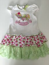 Monnalisa Baby Girls Dress Rocking Horse Age 18 M Short Sleeve