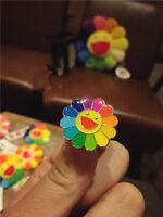 NEW takashi murakami Flower Rainbow Pin Badge kaikai kiki Mini