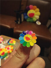 NEW takashi murakami Flower Rainbow Pin Badge kaikai kiki Mini