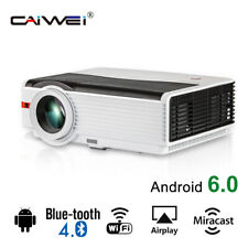 1080P Wireless WIFI Android Projector for Home Theater Blue-tooth Movie App HDMI