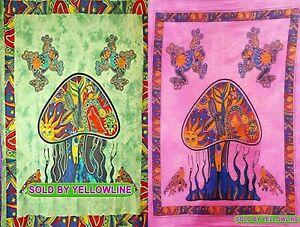 2 piece Mushroom Tapestry Bohomen Indian Wall Hanging Wholesale (77cmX102cm)GP-4