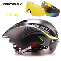 Bicycle helmet with glasses MTB Road Bike Helmet Bicycle Cycling + Goggles Visor