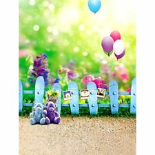 3x5FT Photo Studio Prop Backdrop Bear Balloon Baby Kids Photography Background