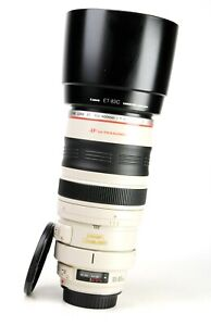 Canon EF 100-400mm Image Stabiliser F4.5-5.6 L IS USM Zoom Lens + Caps +Hood EXC