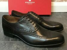 Men,s - Grenson - Dylan - Black Oxford Brogue Shoes - UK 11.5